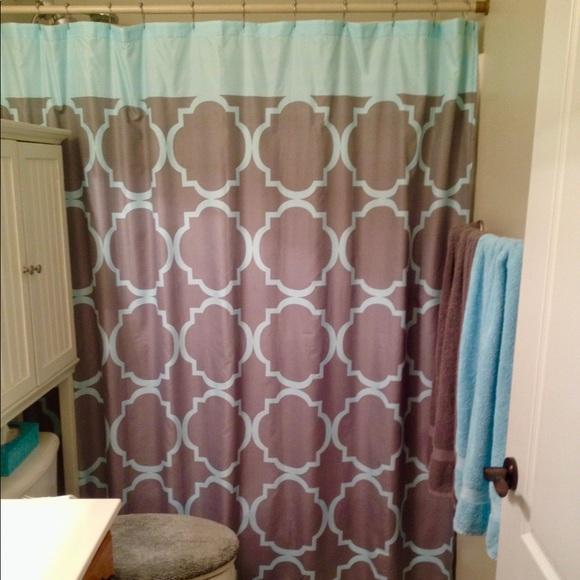 Bed Bath Beyond Bath Teal And Gray 3b Shower Curtain Poshmark